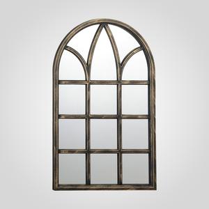 Коричневое Зеркало-Окно с Патиной 78x50 (Полимер)