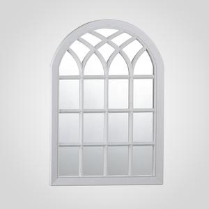 Белое Широкое Зеркало-Окно (Полимер)