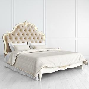 Кровать с каретной стяжкой 160*200 Romantic Gold