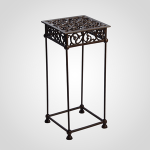 Чугунный Ажурный Квадратный Стол/Подставка под Цветы 61x28x28 см