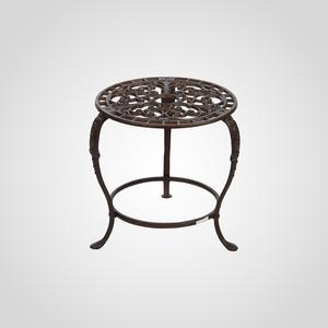 Чугунный Круглый Кофейный Ажурный Стол 30 см