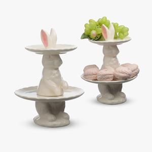 Конфетница-этажерка Big french bunny