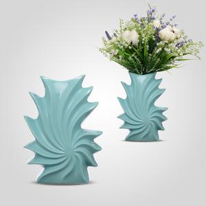 Ваза керамическая Meringue ice cream цвет Turquoise