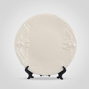 Тарелка с Ангелочком Кремовый Фарфор Большая