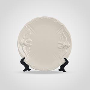 Тарелка с Ангелочком Кремовый Фарфор Малая