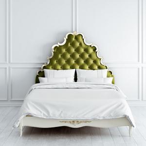 Кровать зеленая с зеркальным декором 160*200 Atelier Gold