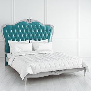 Кровать с мягким бирюзовым изголовьем и утяжкой 160*200 Atelier Home