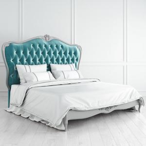 Кровать с мягким бирюзовым изголовьем и утяжкой 180*200 Atelier Home
