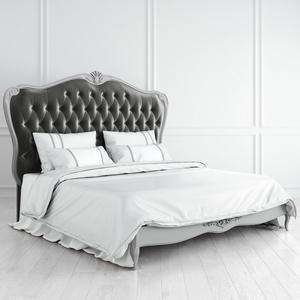 Кровать с мягким серым изголовьем и утяжкой 180*200 Atelier Home