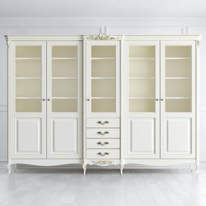 Шкаф для книг пятидверный Atelier Gold