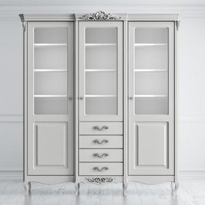 Шкаф для книг трехдверный с ящиками Atelier Home