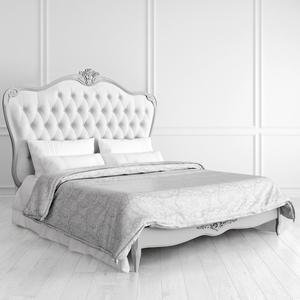 Кровать с мягким белым изголовьем и утяжкой 160*200 Atelier Home