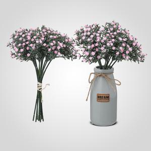 Искусственный Букет Полевых Розовых Цветов 33 см.