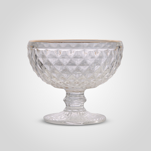 Креманка Стеклянная Прозрачная с Золотистой Каймой
