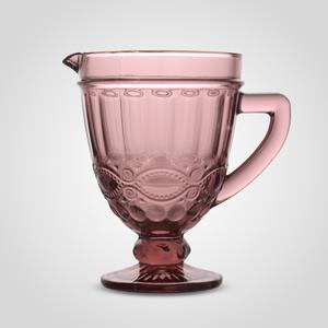 Кувшин Стеклянный Розовый с Золотистой Каймой