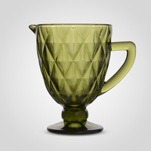 Кувшин Стеклянный Зеленый с Золотистой Каймой