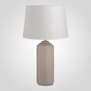 Лампа Настольная Керамическая Кремовая с Листьями