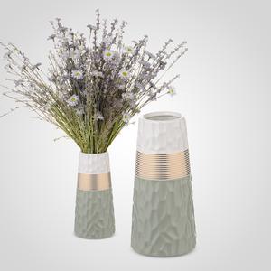 Ваза-Бутылка Керамическая Серая