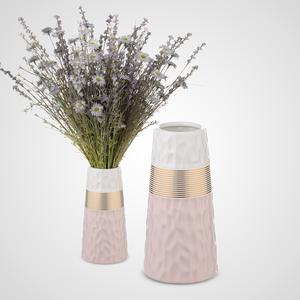 Ваза-Бутылка Керамическая Розовая
