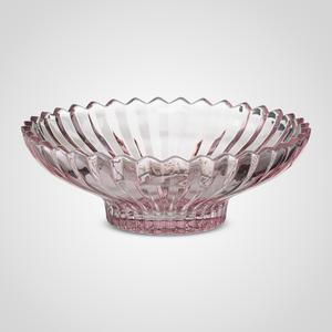 Фруктовница Стеклянная Розовая