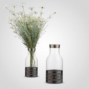 Стеклянная Ваза-Бутылка 26 см.