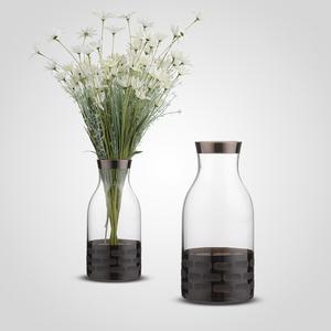 Стеклянная Ваза-Бутылка 30 см.