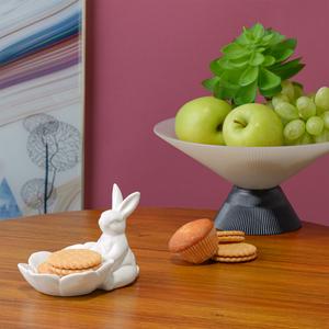 Керамическая Бонбоньерка-Цветок с Кроликом-Зефиром