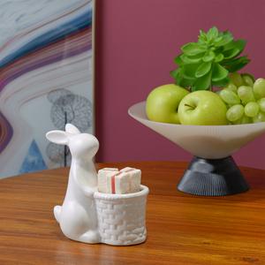 Конфетница керамический Кролик с Кашпо
