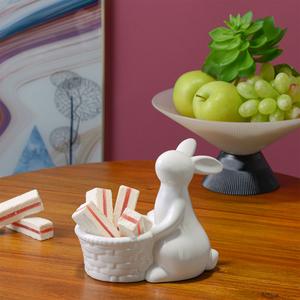 Керамический Кролик с Кашпо