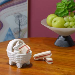 Декоративная Фигура Малыш-Кролик в Коляске (Керамика) 28х28х15