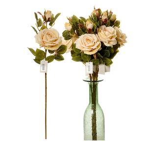 Роза кремовая (12шт.) 9101-4