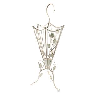 Зонтница металлическая Белый ажур 25х75см PL08-001