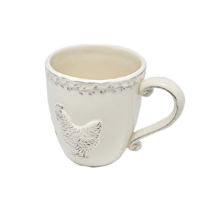 Чашка керамическая белая 17х13см T06604-2