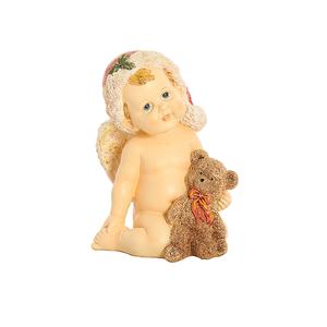 Ангел новогодний с мишкой 13х12х18см A304675
