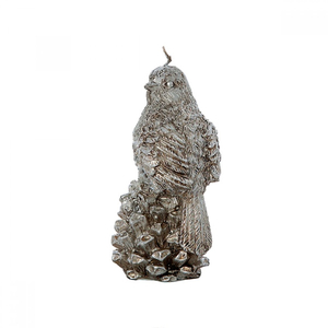 Свеча птичка на шишке 6х6х11 см F103215X+A