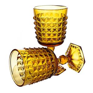 Бокал для вина желтый Ампир