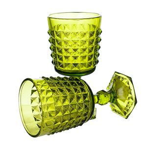 Бокал для вина яркий светло-зеленый Ампир