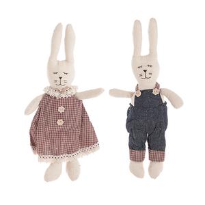 Мягкие игрушки зайцы пара HL735
