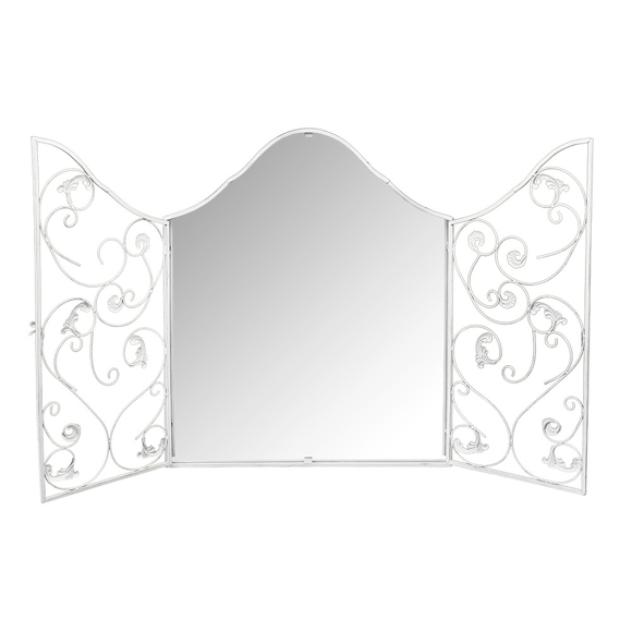 Настенное зеркало «Монтанер» (белый антик)
