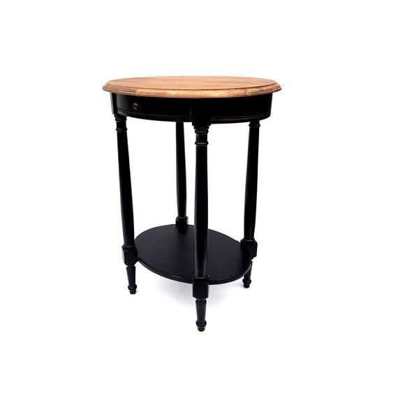 Стол кофейный овальный Marcel & Chateau, черный H835 столешница цвет дерева