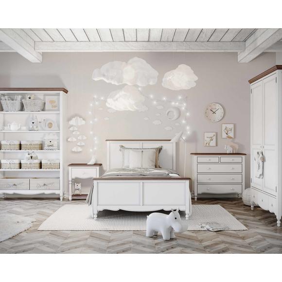 Кровать односпальная Leblanc, белая
