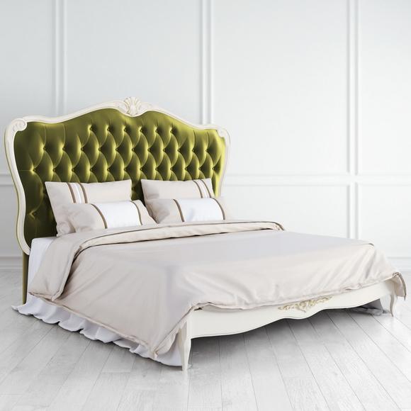 Кровать с мягким зеленым изголовьем Atelier Gold