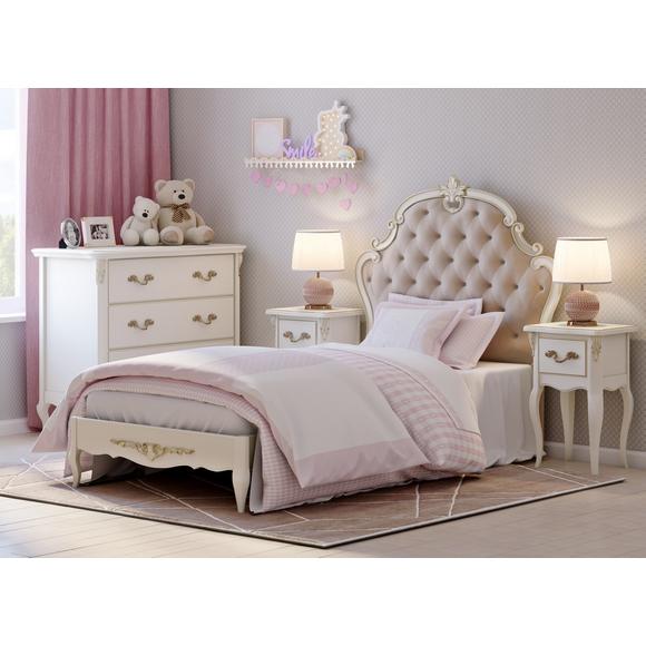 Кровать с каретной стяжкой 90*190 Romantic Gold