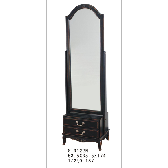 Большое напольное зеркало Leontina черное ST9122N