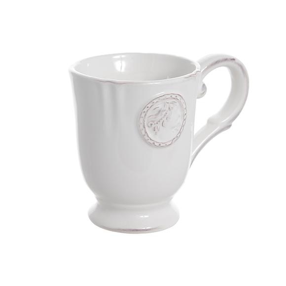 Набор из 4х керамических белых чашек 12х9х10см T02306