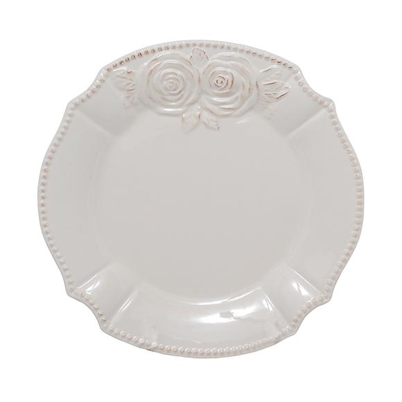 Тарелка керамическая белая 21 см T18607-1