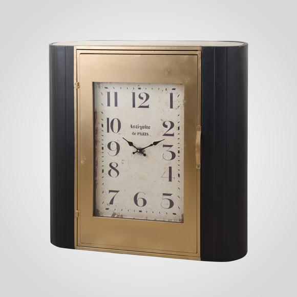 Часы - шкафчик золотистый с черным 80х22х80 MU13B-F028L1