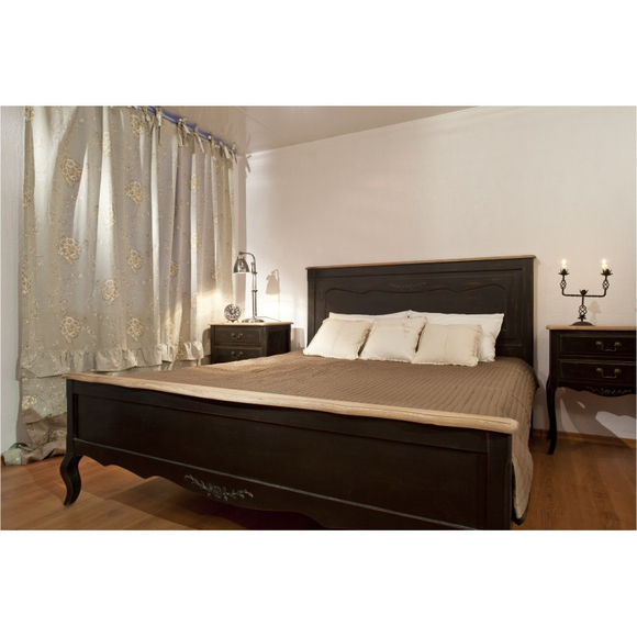 Кровать черная деревянная 160х200 ST9141MN