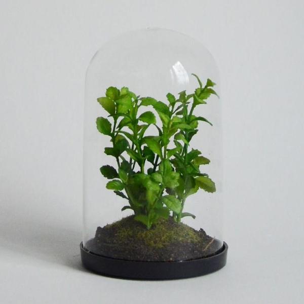 Суккулент искусственный в стекле 16 см HLA432