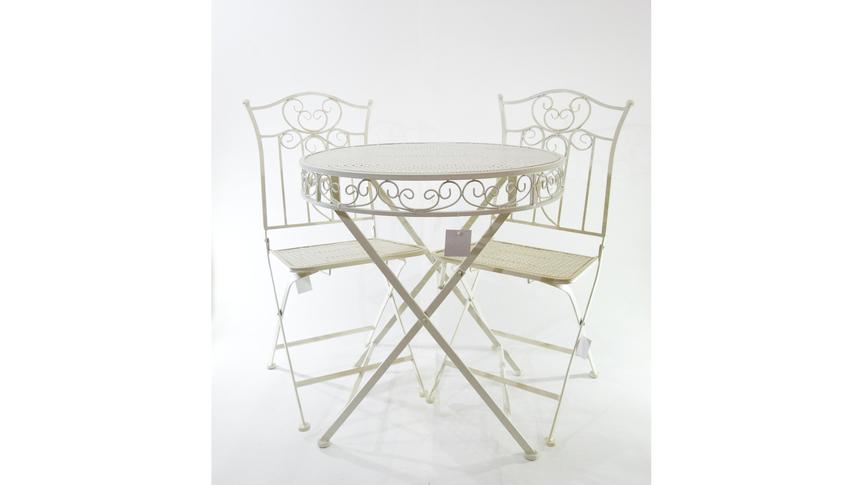 Металлический стол и 2 стула 70*75 см / 39*39*90 см